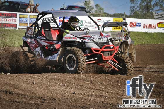 Alex Fortune races his Arctic Cat Wildcat at ERX