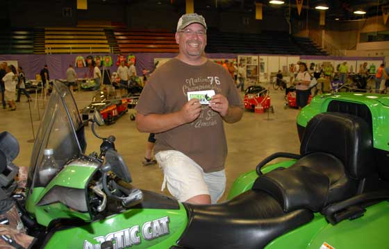 Steve Asche with his dad's Arctic Cat TRV