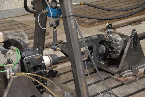 Axle test rig at Arctic Cat