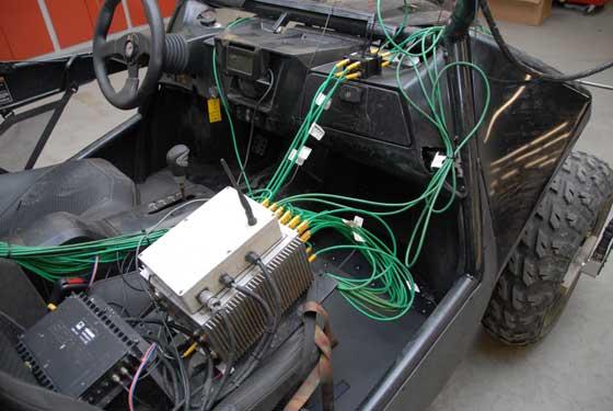 Prototype Arctic Cat Wildcat with data-recording equipment
