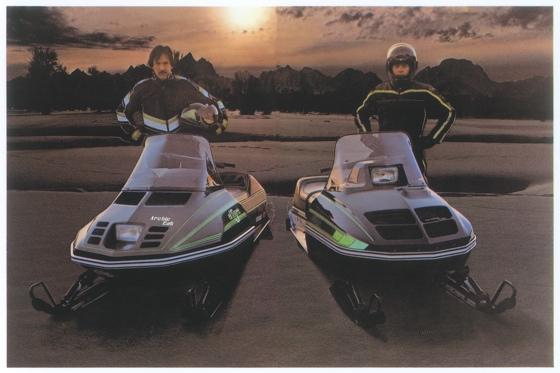 1980 Arctic Cat El Tigre & Jag snowmobiles