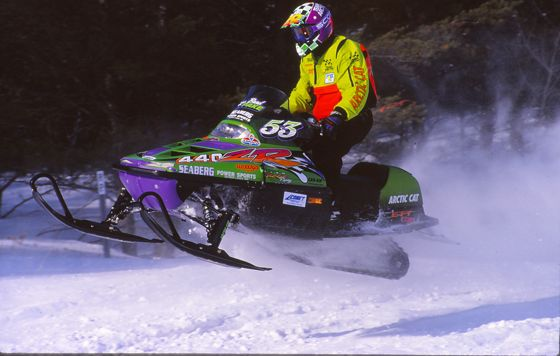 Brad Pake at the 1996 ISOC I-500 cross-country. Photo by ArcticInsider.com