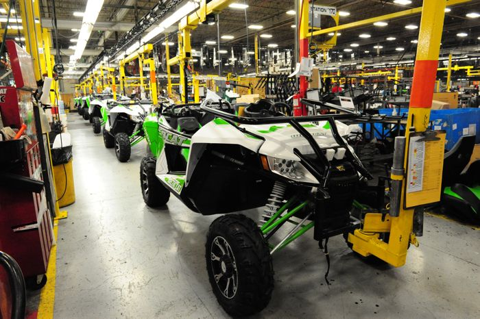 Arctic Cat Wildcat on the production line, photo by ArcticInsider.com