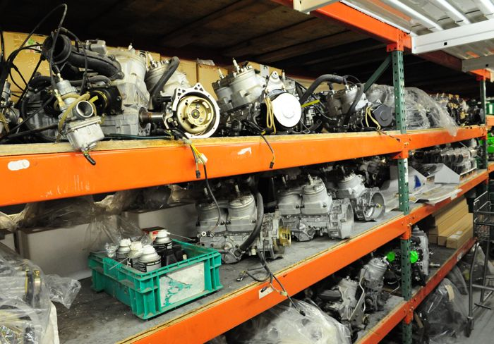 Snowmobile engines in Arctic Cat Special Services. Photo by ArcticInsider.com