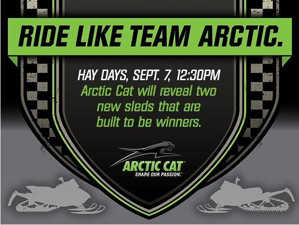 Arctic Cat Reveal at 2013 Hay Days