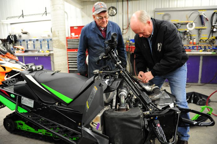Larry Coltom and Greg Spaulding with the Arctic Cat ZR6000 El Tigre