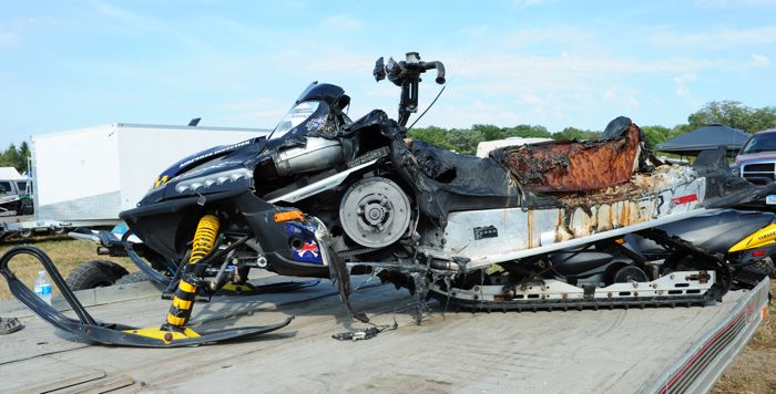 Maybe not a decent condition Arctic Cat Firecat at Hay Days.