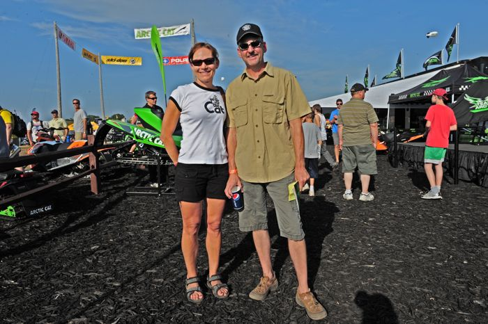Meeting new friends in the Arctic Cat booth at Hay Days