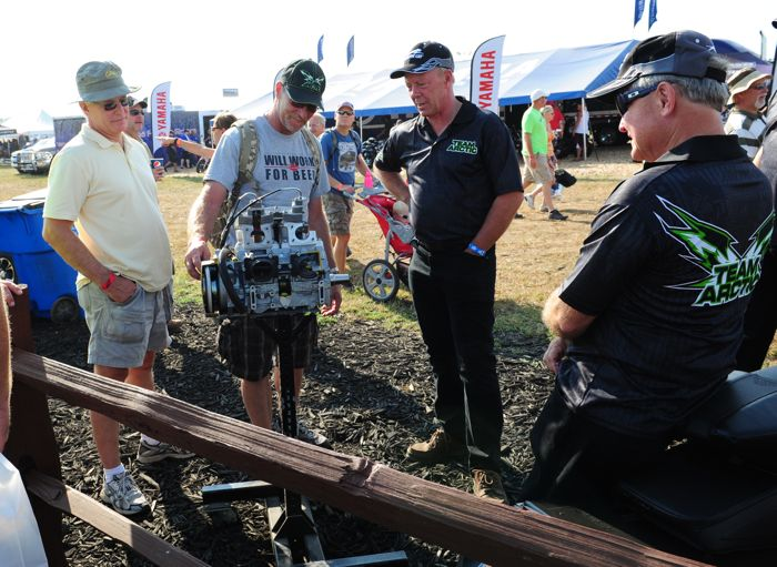 Arctic Cat's Greg Spaulding and Donn Eide at Hay Days