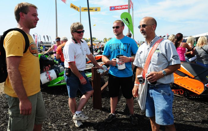 The Four Amigos at the Arctic Cat booth at Hay Days