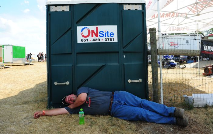 The party sleeps at Hay Days