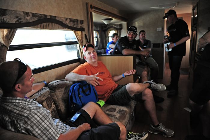 Inside the OSM camper at Hay Days