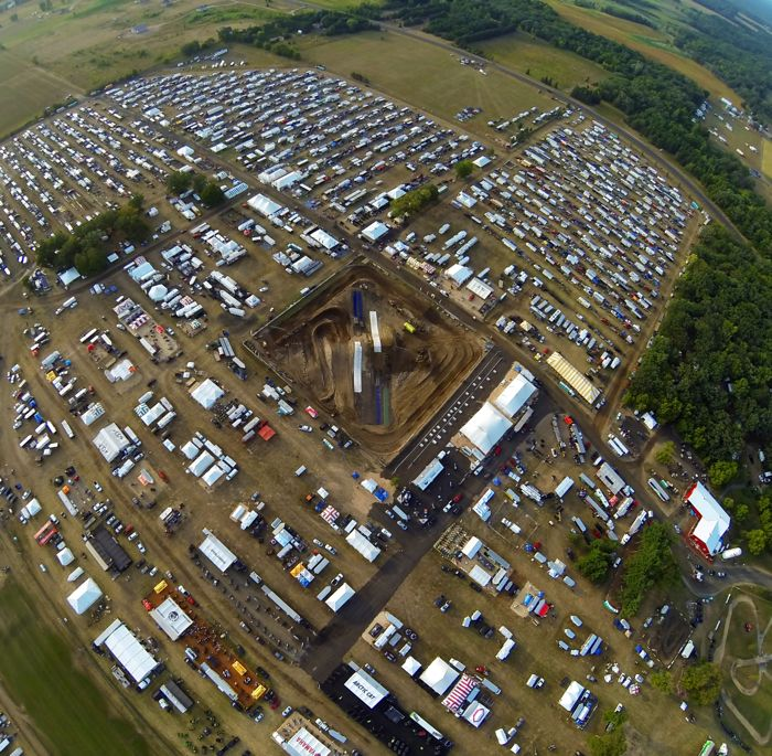 Bird's eye view of Hay Days 2013, photo by Chad Colby