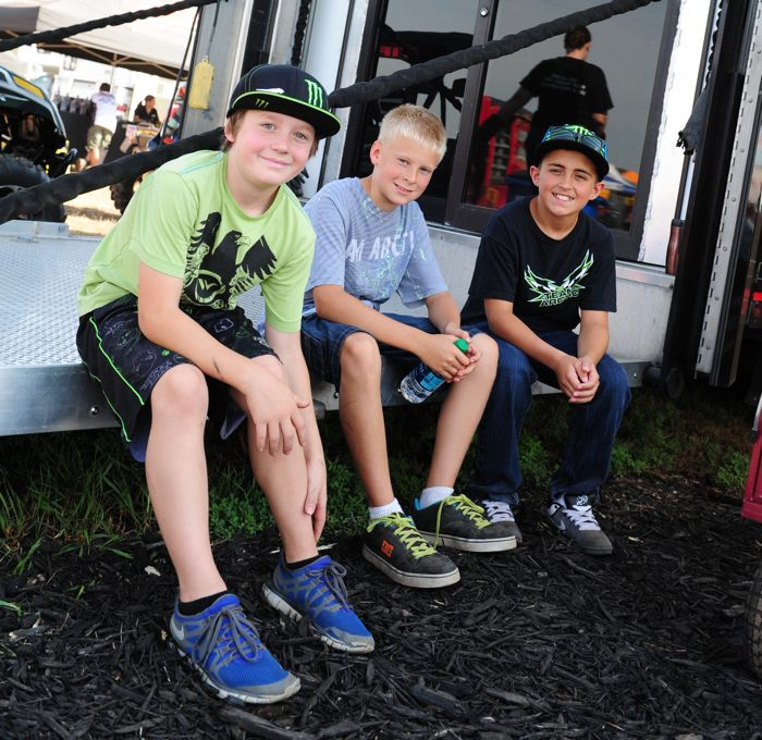 Team Arctic's Anson Scheele, Evan Christian and Trent Wittwer.