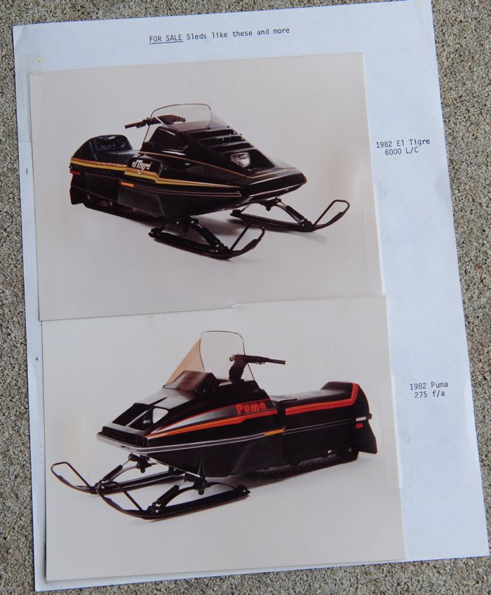 Another sales sheet for the 1982 Arctic Cat prototype snowmobiles