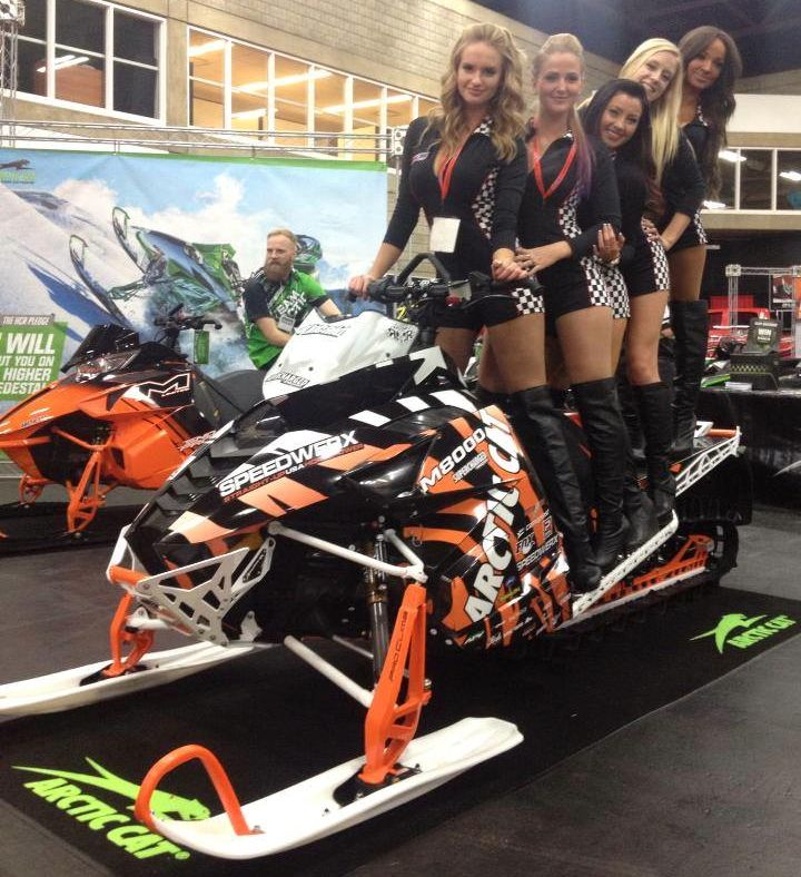 Arctic Cat Backcountry rider Rob Kincaid rides with friends.