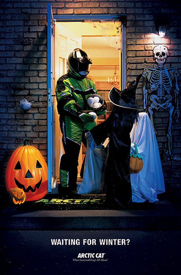 Arctic Cat Halloween advertisement