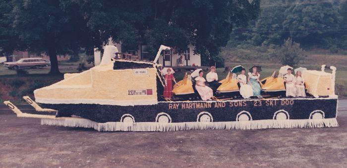 TGIF: snowmobile, float