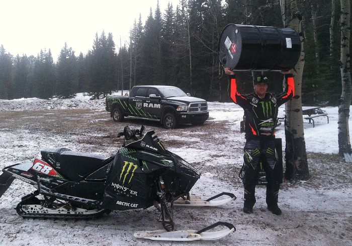 Tucker Hibbert: 4 days of riding, 55 gallons of fuel.