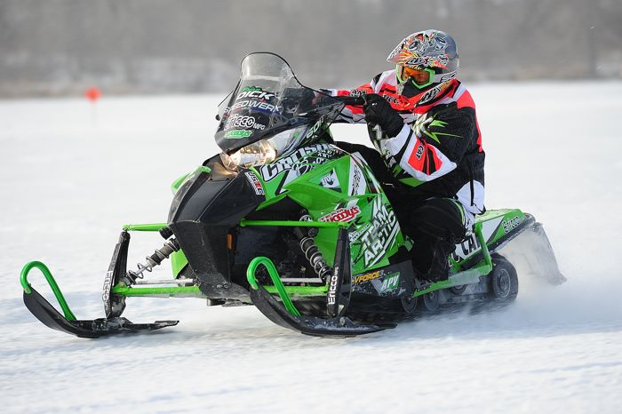 Team Arctic's Brian Dick won on the ice in USXC last season. Photo by ArcticInsider.com