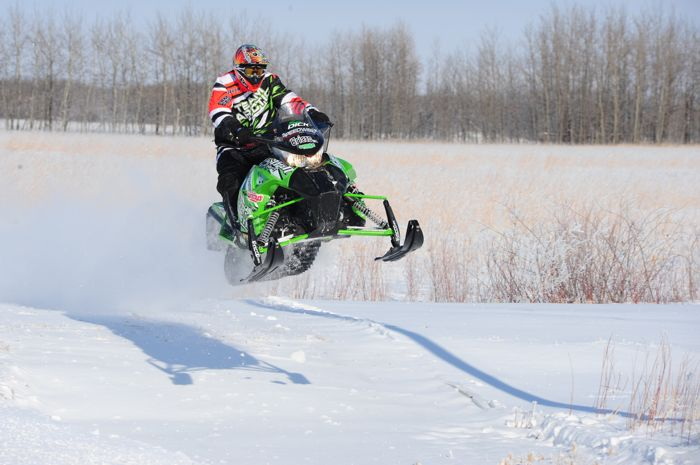 Arctic Cat racer & engineer Brian Dick at the 2013 USXC I-500. Photo by ArcticInsider.com