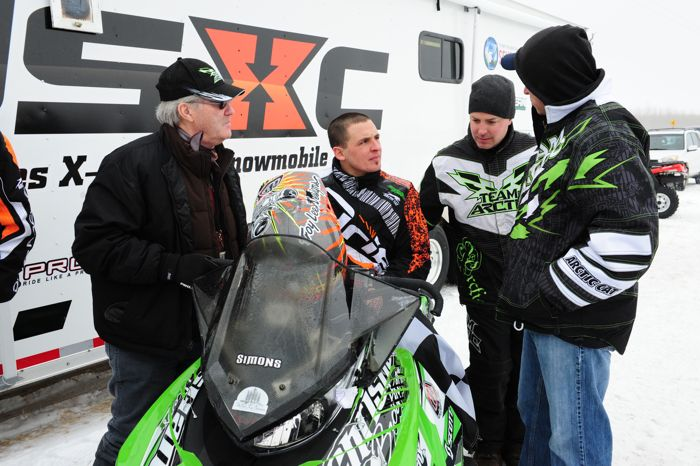 Arctic Cat's Roger Skime, Ryan Simons, Brian Dick and Mike Kloety. ArcticInsider.com.