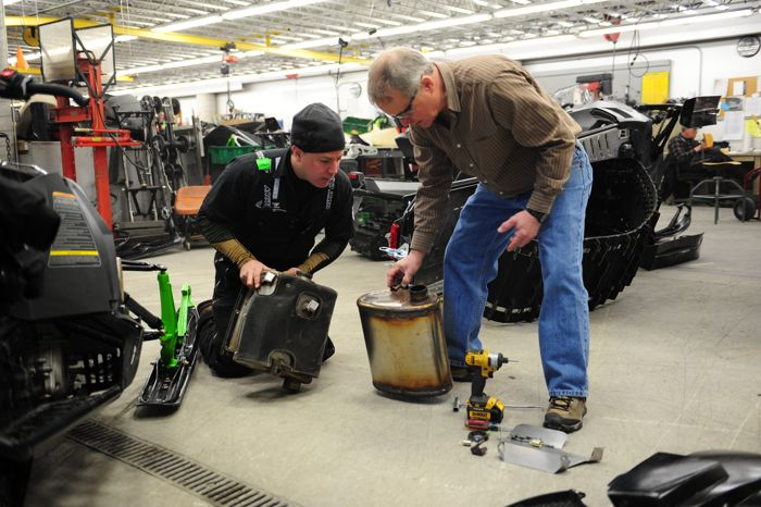 Arctic Cat engineers Brian Dick (L) and Donn Eide. Photo by ArcticInsider.com