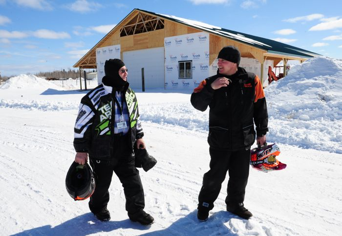 Arctic Cat's Roger Skime (L) and Brian Dick. Photo by ArcticInsider