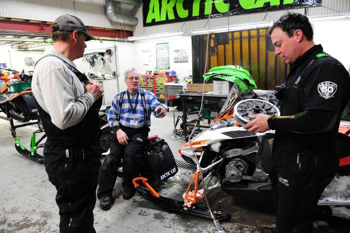 Arctic Cat engineers Bart Magner, Roger Skime and Brian Dick. Photo-ArcticInsider.com