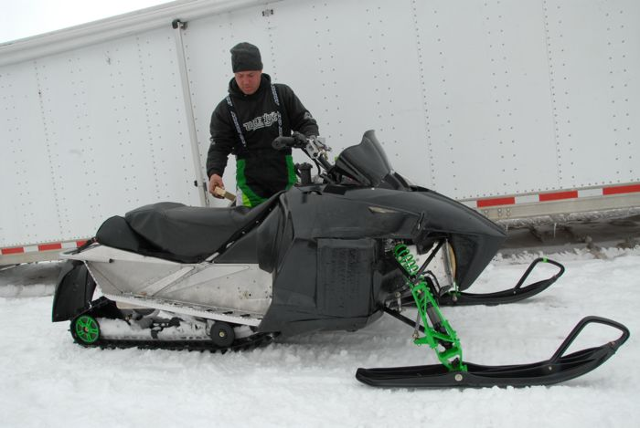 Arctic Cat racer & engineer Brian Dick. Photo by ArcticInsider.com