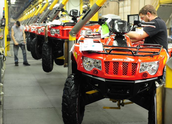 2013 Arctic Cat 500 4x4 ATV on the assembly line. Photo by ArcticInsider.com