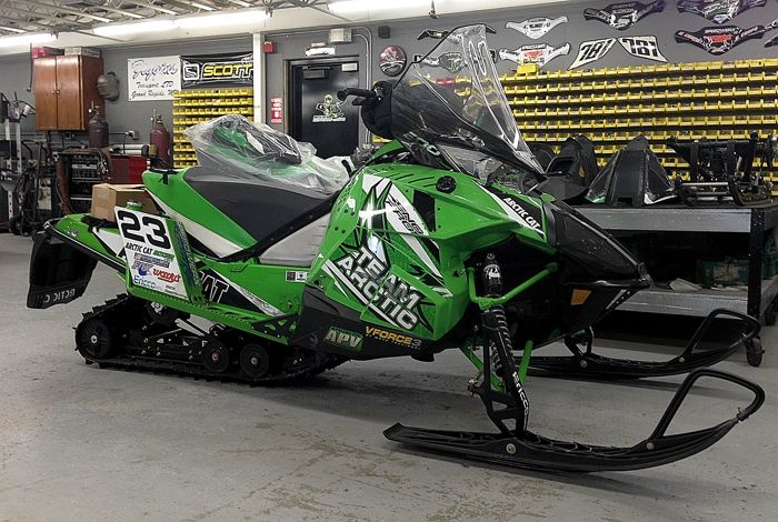 Arctic Cat racer Brian Dick's 2013 Sno Pro 600 Iron Dog race sled. Photo by ArcticInsider.com