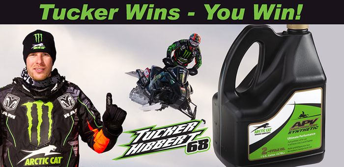 Tucker Hibbert Wins, You Win Arctic Cat APV Oil