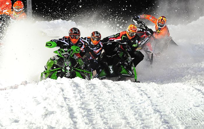 Team Arctic pro's in action. Photo by ArcticInsider.com