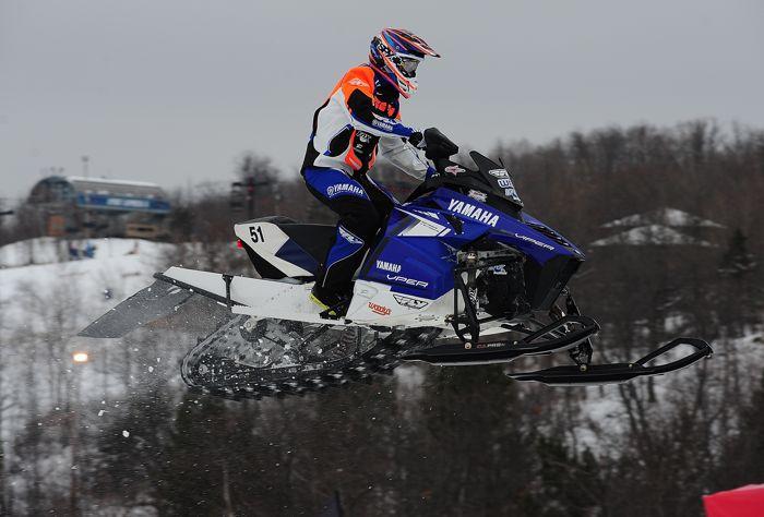 Matt Piche on the Yamaha snocross sled. Photo by ArcticInsider.com