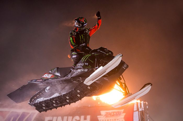 Monster Energy & Arctic Cat racer Tucker Hibbert at Bessemer, Mich.