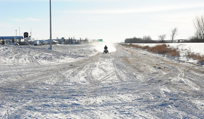 Roger Skime testing in the ditch by Arctic Cat. Photo by ArcticInsider.com