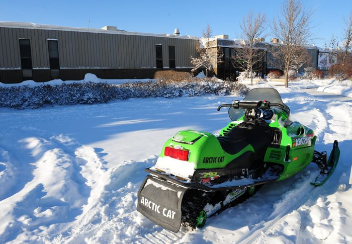 Arctic Cat at the factory.