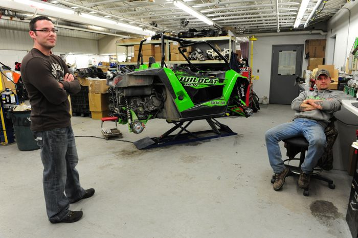 Arctic Cat engineers Jared Spindler and Nate Hunt
