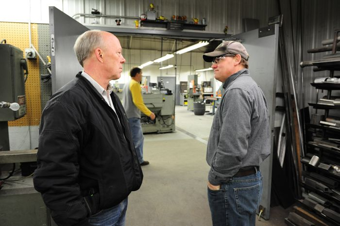 Arctic Cat engineers Greg Spaulding and Bart Magner