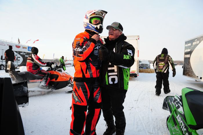 Team Arctic's Wes Selby and Roger Skime. Photo by ArcticInsider.com