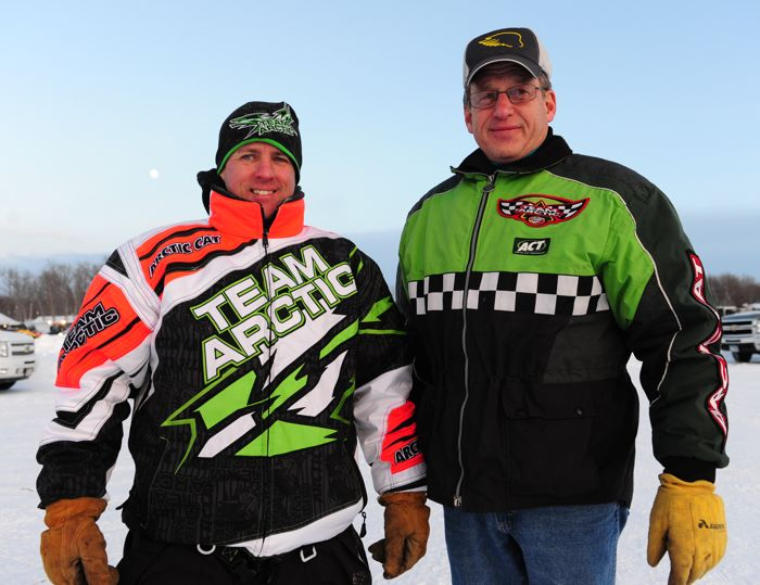 Arctic Cat racers, race-makers and great guys, Chad Dyrdahl and Robert Johnson