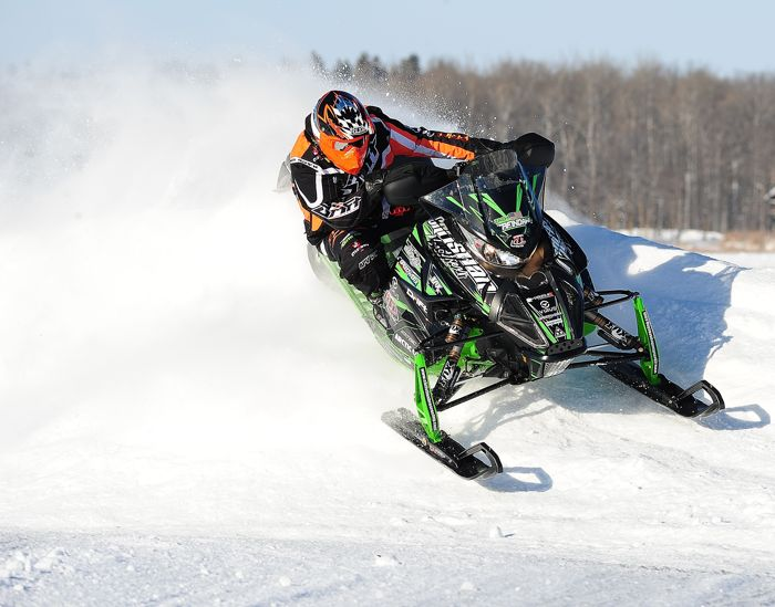 Team Arctic Cat/Christian Bros. Racing pro Zach Herfindahl. Photo by ArcticInsider.com