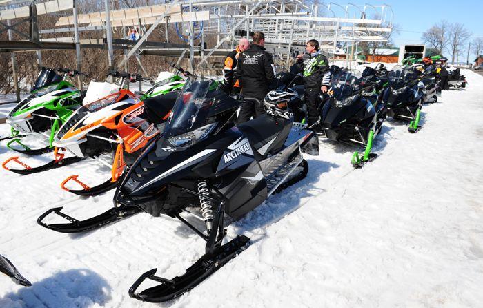 2014 Arctic Cat snowmobile Demo Ride Event