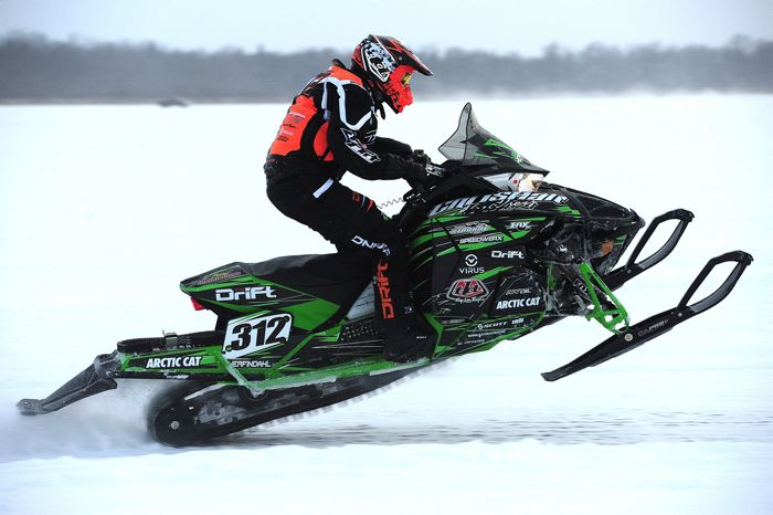 Team Arctic/Christian Bros. Racin pro Zach Herfindahl. Photo by ArcticInsider.com
