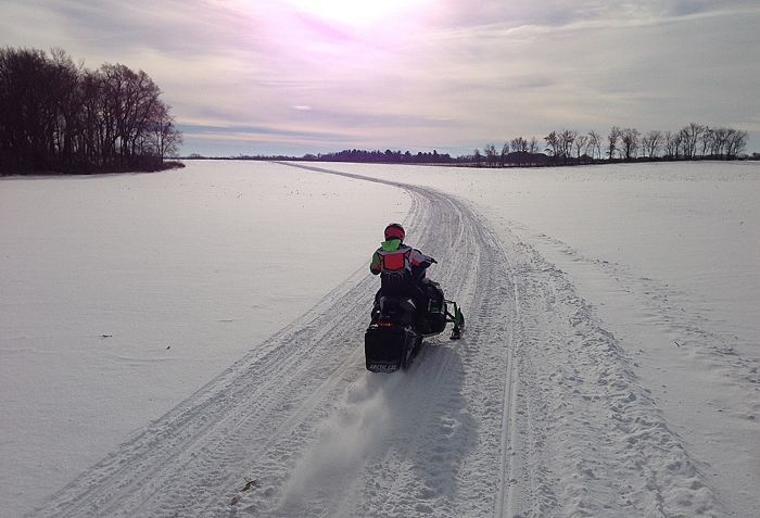 Happy New Year (on an Arctic Cat)