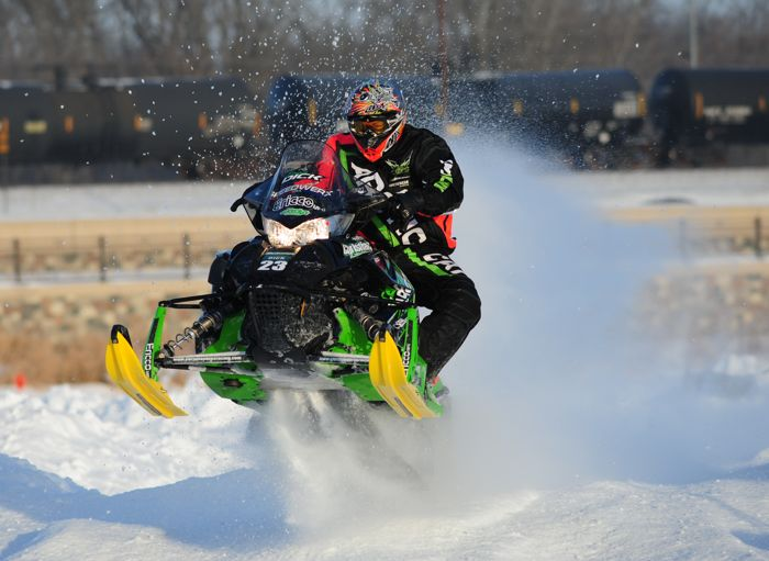 Team Arctic's Brian Dick won in Detroit Lakes. Photo: ArcticInsider.com