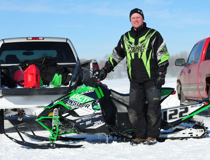 Team Arctic Cat legend Brad Pake at Willmar. Photo by ArcticInsider.com
