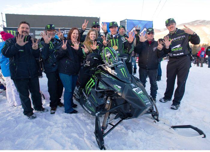 Monster Energy/Team Arctic's Tucker Hibbert and team 7-peat: Photo: Hanson