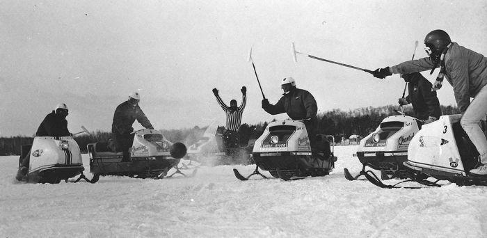 TGIF: The snowmobile polo club edition